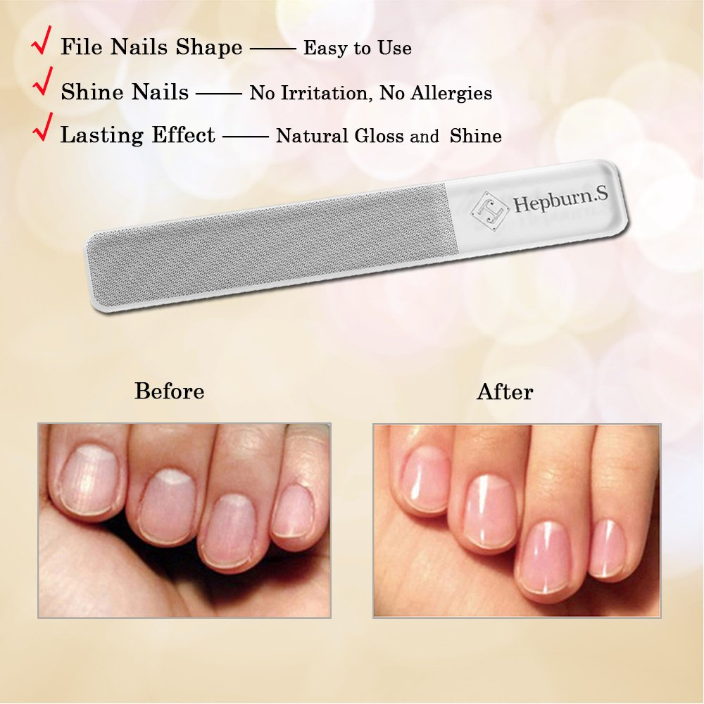 Amazon.com: Nail File Nail Care Manicure Tool Glass Nano-Technology ...