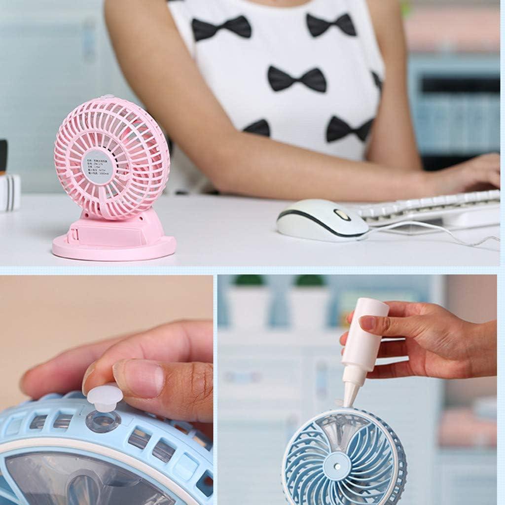 JiaMeng Ventilador USB Mini Ventilador Humidificador portátil de ...