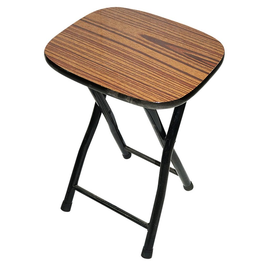 WEI MING-Chair Home Folding Stool Folding Chair Wood Surface Low Stool Simple Small Square Stool