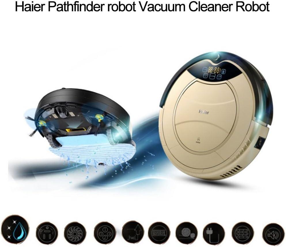 Haier T320 - Robot Aspirador 90 Min (120M² Cobertura de Limpiar, 180Ml Tanque de Agua, Diámetro 34Cm, Escalada 25º), Dorado: Amazon.es: Hogar