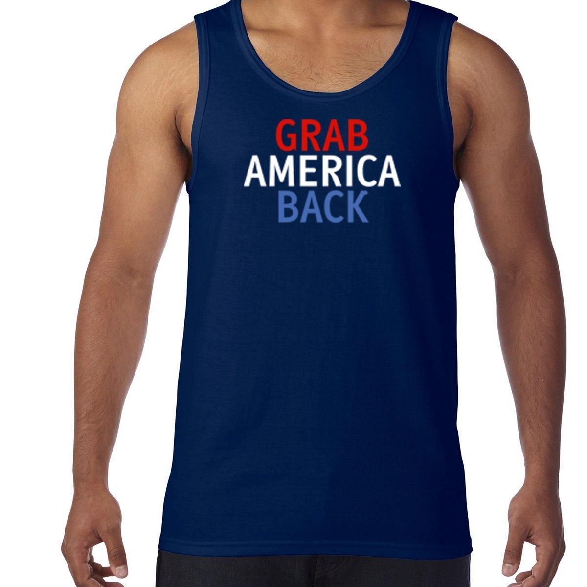 Amazon.com: AW Fashions Grab America Back - Trump Shirt Mens Tank Top: Clothing