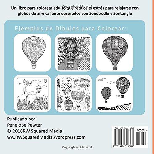 El Globo De Aire Caliente Libro Para Colorear Adultos: Un libro para ...