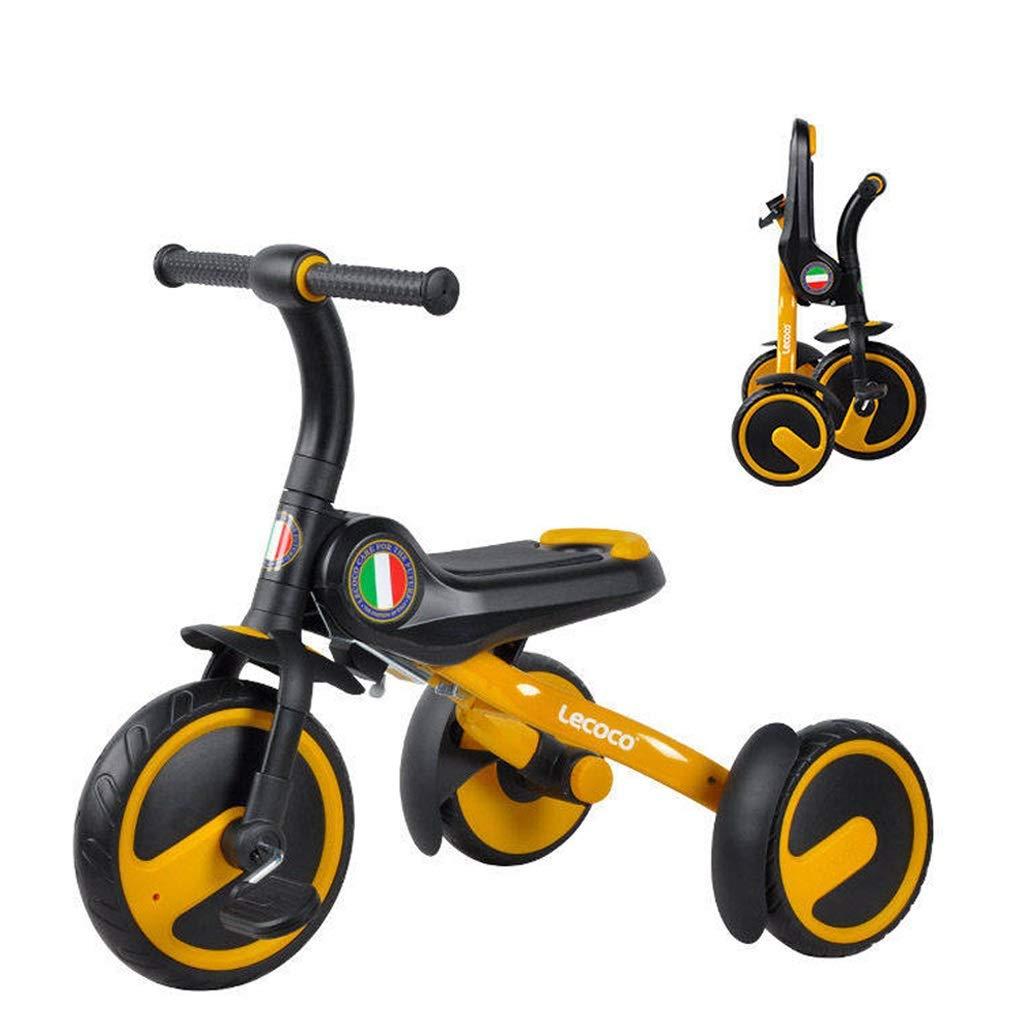 子供の三輪車 ファッション三輪車 アウトドアおでかけ子供の自転車 1-5歳の男の子と女の子の三輪車 折りたたみ式三輪車 最高の贈り物 (Color : Orange)  Orange B07QQHWLK1