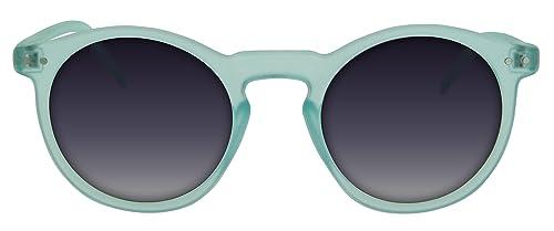 Gafas de sol Blue Hawaii de Calgary con montura semitransparente en azul cielo con lentes ahumadas c...