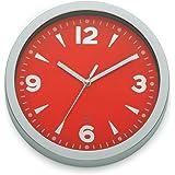 Kela 17159 horloge murale diamètre 20 cm, coloris rouge, 'Moscou'