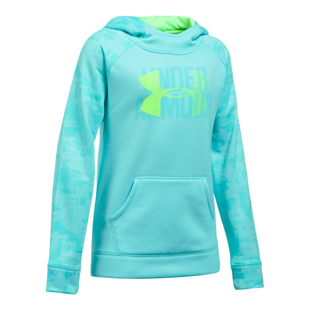 Under Armour Armour Fleece Big Logo Printed YLG BLUE INFINITY