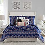 Vera Bradley Romantic Paisley Comforter, Full Queen, Blue