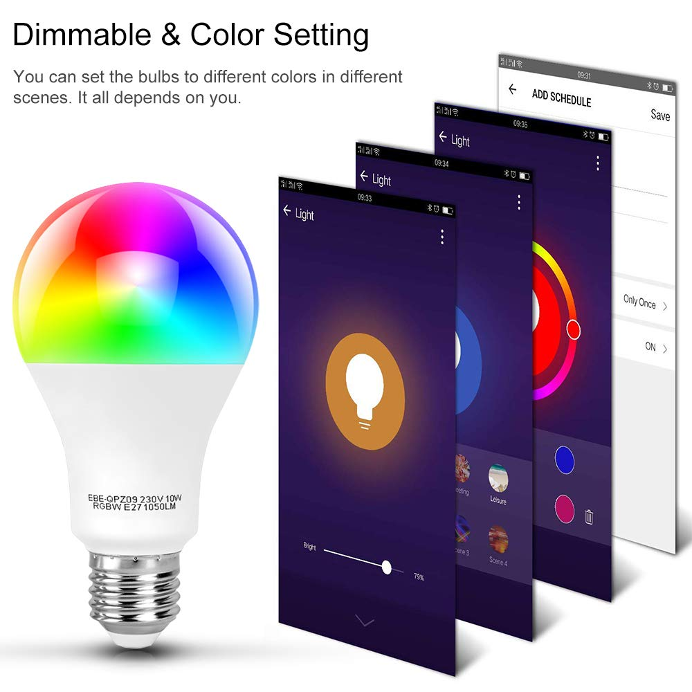 tonbux alexa smart led bulb work with echo and google home no hub required 712971989436 ebay. Black Bedroom Furniture Sets. Home Design Ideas