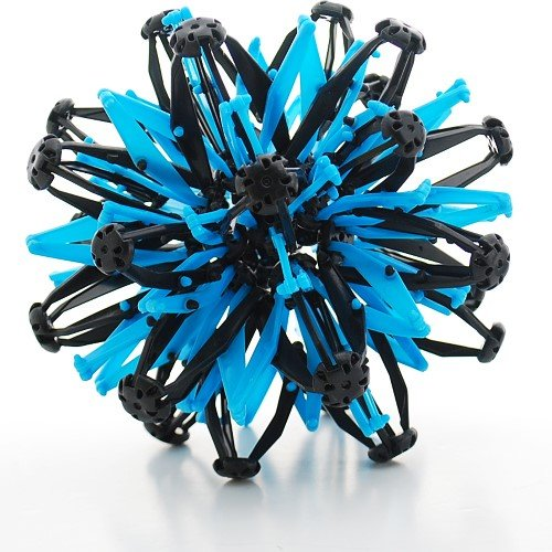 Mini Sphere Toy Rings Stretch Expanding Ball Toys Funny for Kids - Blue Black