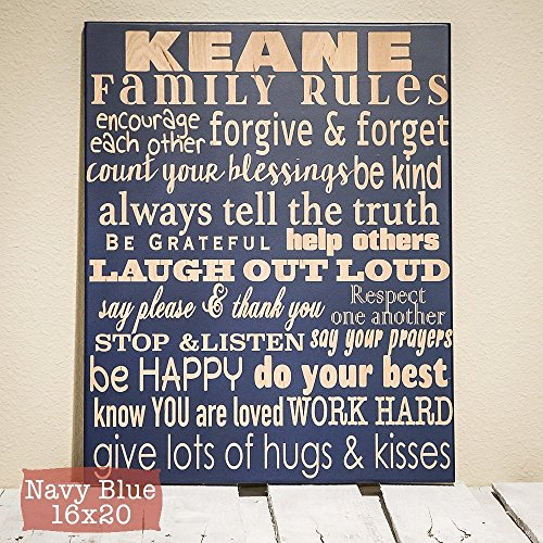 Family Rules Sign Personalized - Wood Engraved Family Decor - Anniversary Gift - Personalized Family Rules Sign