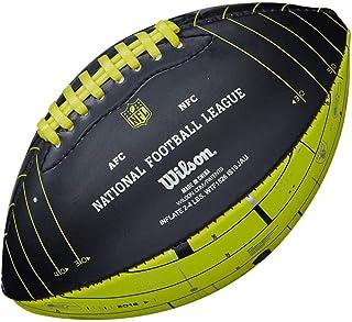 WILSON NFL London Games 2018 Team Logo Mini Football [Noir/Vert électrique]