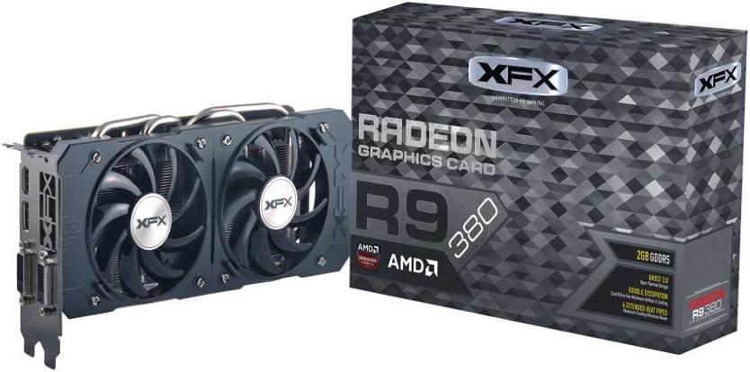 XFX DOUBLE DISSIPATION R9 380 990MHZ XXX OC 2GB DDR5 DISPLAYPORT HDMI DUAL DVI Graphics Cards R9-380P-F22M