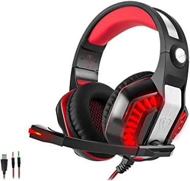 Beexcellent GM-2 Pro Gaming Over-Ear con micrófono, luces LED y ...