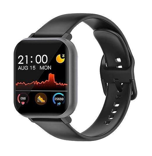 Carlson Raulen Falcon Series Smart Watch Body Temperature Full Touch Fitness Activity Tracker Waterproof 24/7 Heart Rate BP Sensor Call & Notifications Alert Call Reject Camera Control (Black Black)