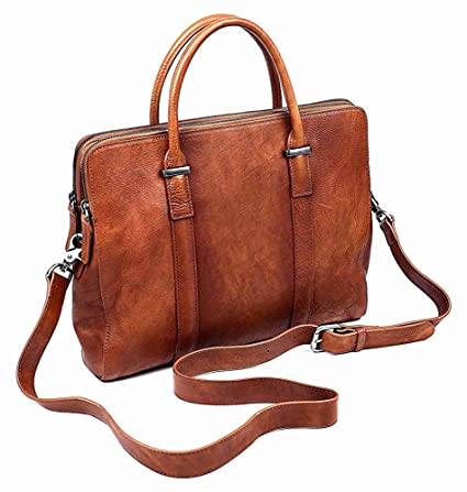 Amazon.com  Genuine Leather Briefcase Laptop Bag b2cdb58351c2d