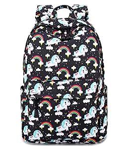 Abshoo Cute Lightweight Unicorn Teens Backpacks for Girls Bookbag (Black)