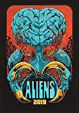 """Wall Calendar 2019 [12 pages 8""""x11""""] Horror Aliens Sci-Fi Vintage Trash Movie Posters Reprint"""