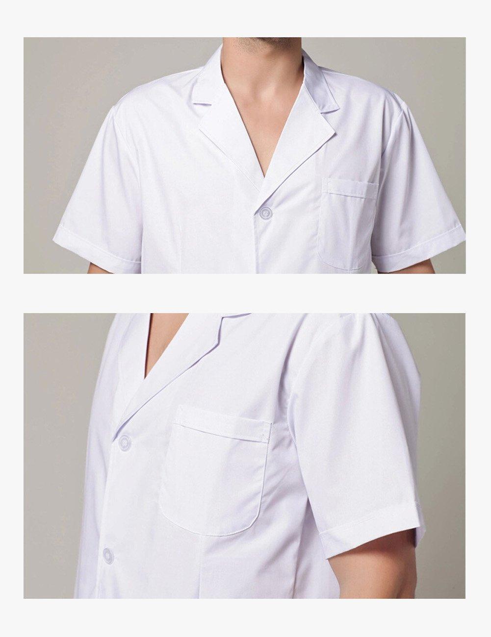 THEE Bata Médico Laboratorio Enfermera Sanitaria de Manga Corta Unisex: Amazon.es: Juguetes y juegos