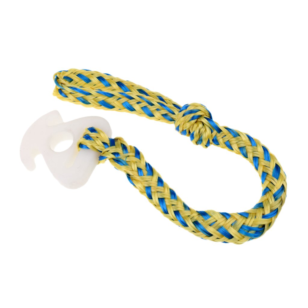 Jili Online Towable Tube Rope Connector Tow Lake Boat Harness Water Ski Connection Yellow Blue