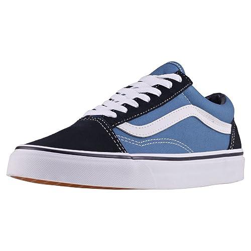 44747d6ea383d8 Vans Men s Adults  Old Skool Classic Suede Canvas Sneakers Navy Blue 5.5  UK  Buy Online at Low Prices in India - Amazon.in