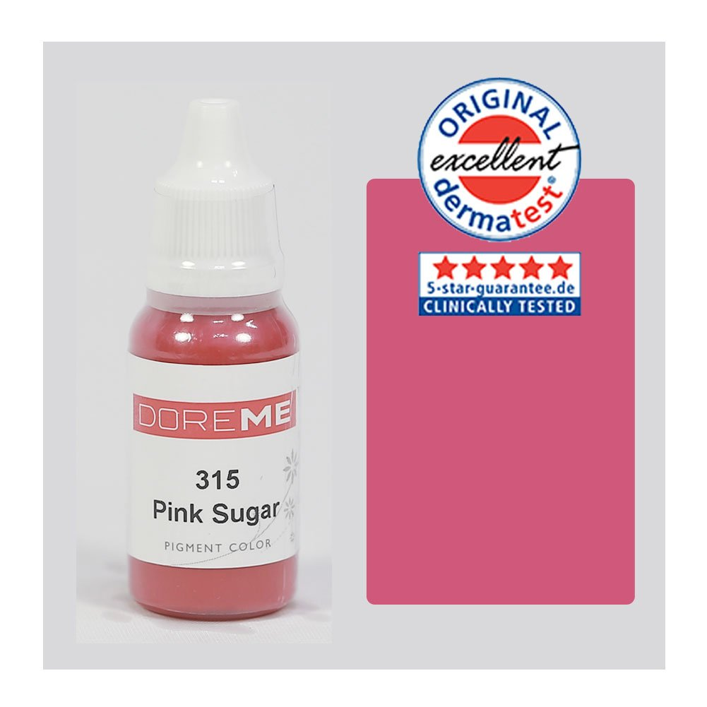 The Elixir Beauty Doreme Professional Permanent Makeup Pigment Tattoo Ink Set Micro Lips, CLINICALLY TESTED, Pink Suger, 1/2 Oz
