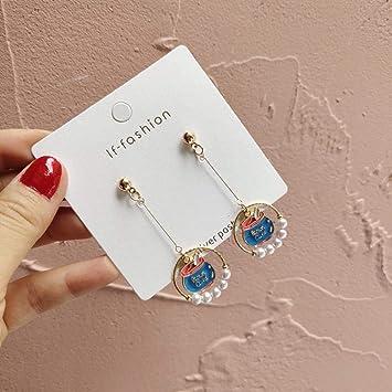 UOUAY joyeria mujer earrings Pendientes de perlas y planetas ...