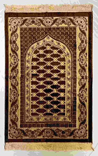 Islamic Prayer Rug Made in Turkey - Muslim Prayer Mat Janamaz for Salah Namaz - Prayer Carpet