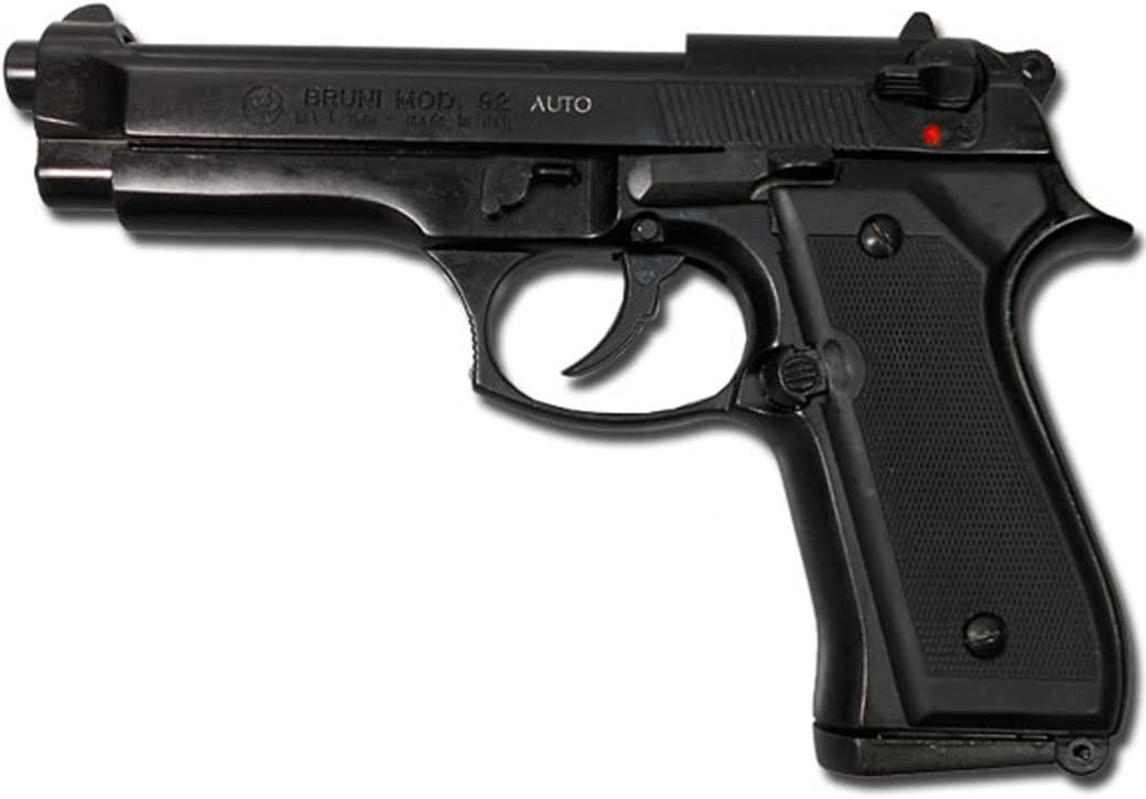 Bruni - Pistola de fogueo Beretta 92, 9 mm, color negro
