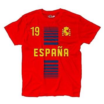 Camiseta T-shirt hombre nacional deporte Espana Spain 19 futbol deporte Europe Scudo 1 S