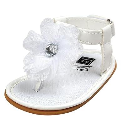 6440e6c172494 🎀LuckyGirls Été Bébé Anti-dérapante Chaussures Princesse Filles Sandales  Perles Fleur Tongs Chaussures Premiers