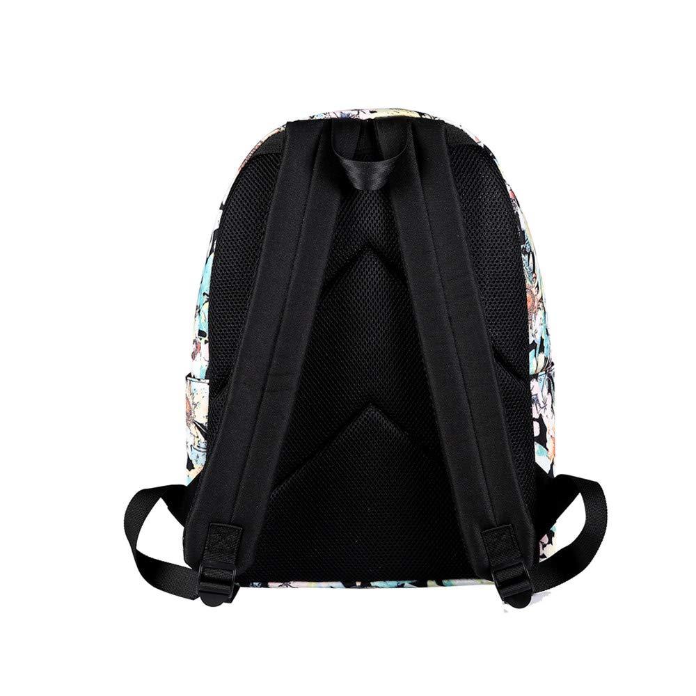 Canvas Backpack, Businda Cute Backpacks School Bookbags Printing Zipper Backpacks Fashion School Bags Casual Canvas Laptop Protective Rucksack for Kids Adults Boys Girls by Businda (Image #7)