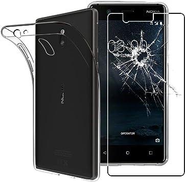 ebestStar - Funda Compatible con Nokia Nokia 3 Carcasa Silicona, Protección Claro Ultra Slim, Transparente + Cristal Templado Protector [NB: Leer descripción] [Aparato: 143.4 x 71.4 x 8.5mm, 5.0]: Amazon.es: Electrónica