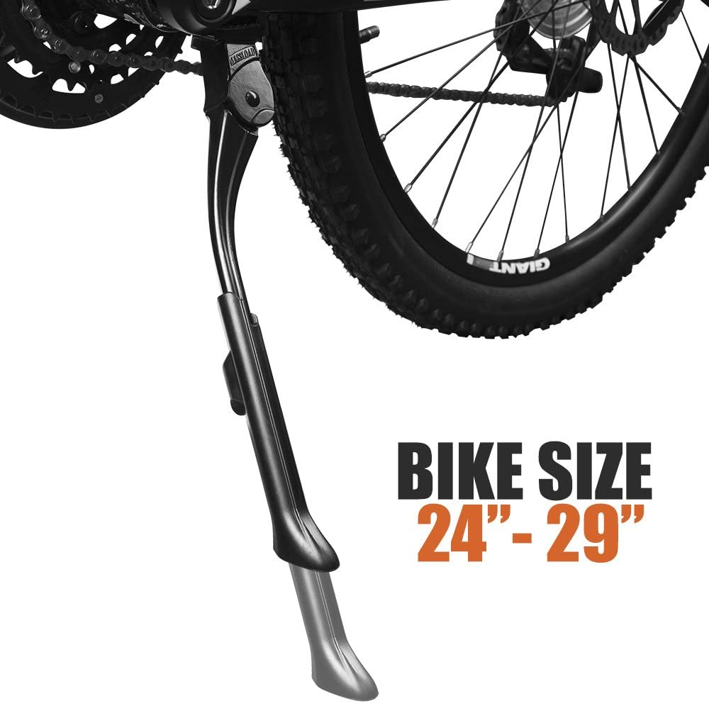 BV Adjustable Bicycle Kickstand with Concealed Spring-Loaded Latch for 24-29 Inch Bike Kickstand