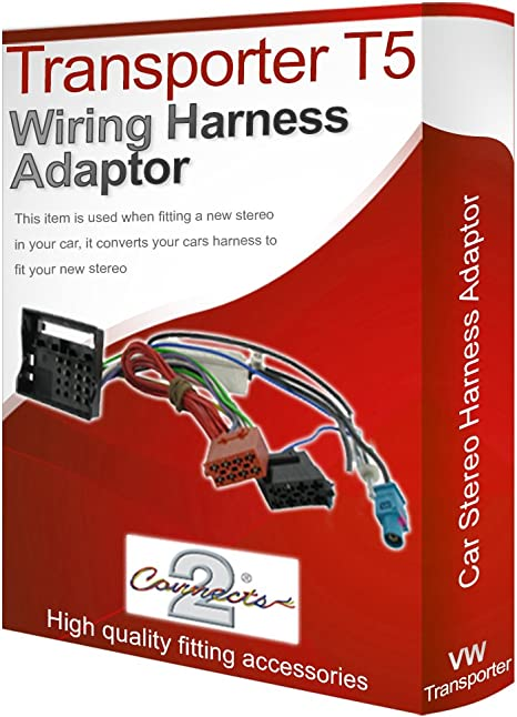 Transporter T5 Cd Radio Stereo Wiring Harness Adapter Amazon Co Uk Electronics