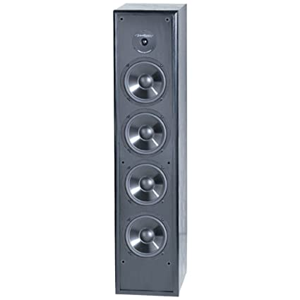 BIC America Venturi DV84 2 Way Tower Speaker Black Single