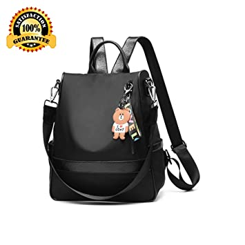 Fashion Backpack Purse for Women Nylon Backpacks Anti Theft Ladies Casual  Daypack Stylish Shoulder Bag School 6caf75d1393dc