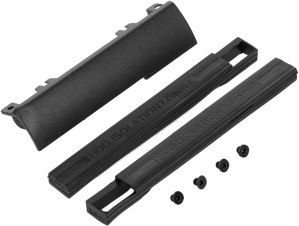 Docooler Hard Drive Caddy Cover + 7mm HDD Isolation Rubber Rails for Dell Latitude E6440