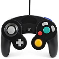 QUMOX BLACK WIRED CLASSIC CONTROLLER JOYPAD GAMEPAD FOR NINTENDO GAMECUBE GC & Wii