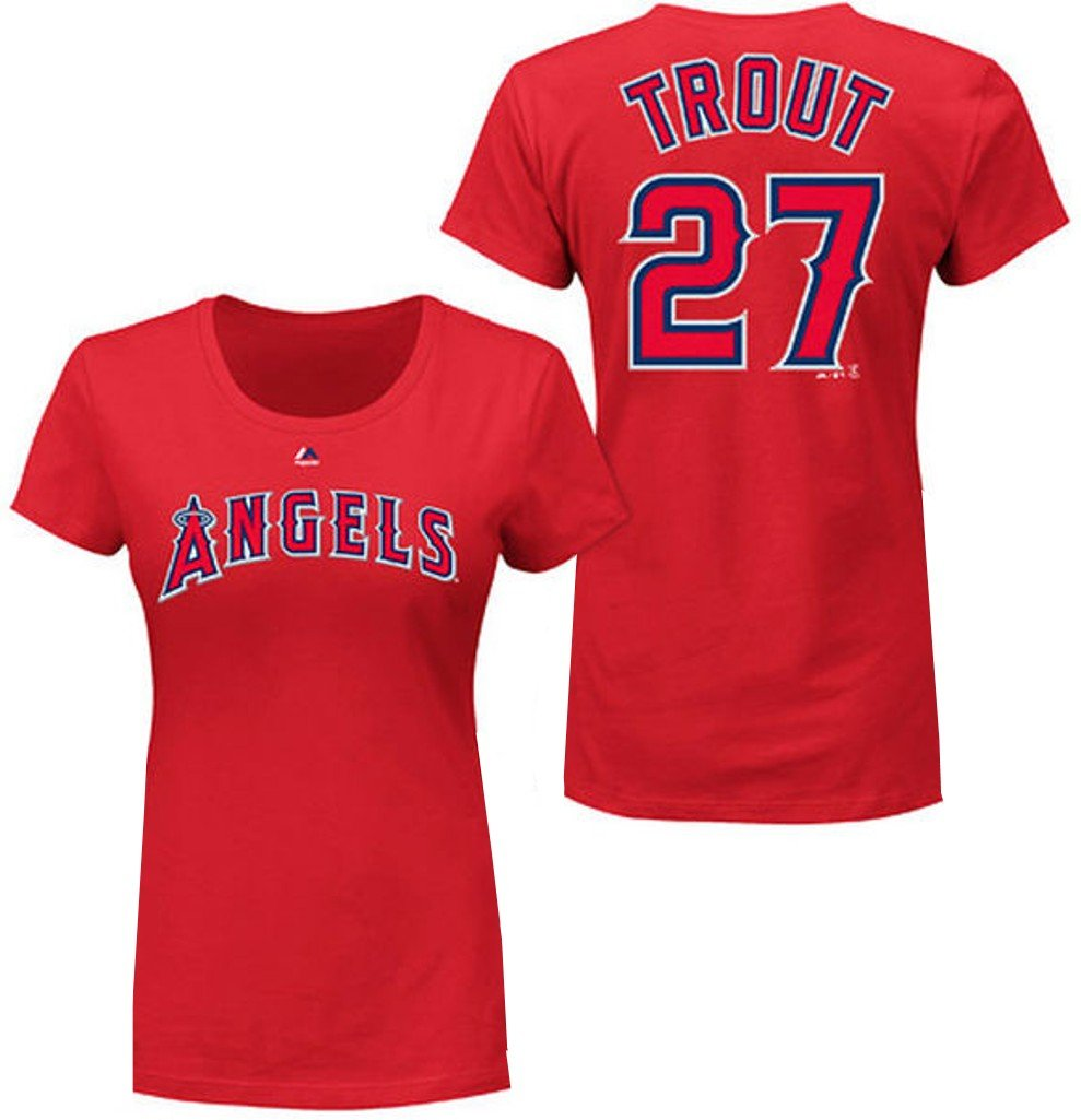 22e85d5fe24 Amazon.com   VF Los Angeles Angels MLB Womens Majestic Mike Trout Player Shirt  Red Plus Sizes (4X)   Sports   Outdoors