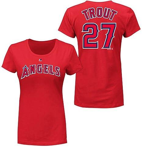 pretty nice 27608 2a9a0 Amazon.com : VF Los Angeles Angels MLB Womens Majestic Mike ...
