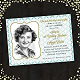 Adult Birthday or Surprise Birthday Photo Invitation Qty. 25 - 65th, 70th, 75th, 80th, 85th, 90th, 95th, 100th or ANY birthday!