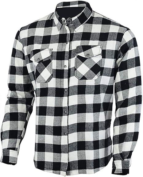 Bikers Gear UK - Camisa de manga larga para motociclista, de fibra de aramida (DuPont® Kevlar®), estupenda franela de algodón, estilo leñador: Amazon.es: Coche y moto