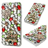 iPhone 6s Plus Case, iPhone 6 Plus Case, Christmas Series Full Body Ultra-Thin Plastic Cover Bling Crystal Shockproof Protective Case for iPhone 6 Plus/iPhone 6s Plus - Snowflake Christmas Tree