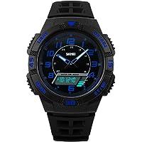 Reloj Para Niños,Reloj Digital-Analogico LED Azul Deportivo,Water Resistant