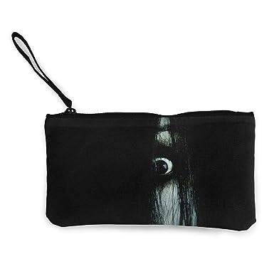 Amazon.com: Monedero de lona, diseño de ojos de terror ...