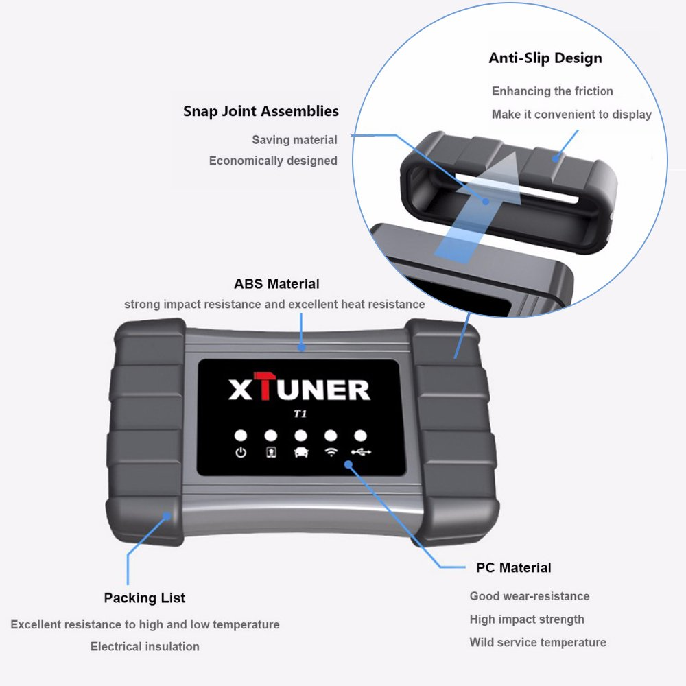 XTUNER T1 Heavy Duty Truck Diagnostic Tool Auto Intelligent Diesel OBD  Scanner Support WIFI