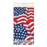 Plastic US American Flag Tablecloth, 7ft x 4.5ft