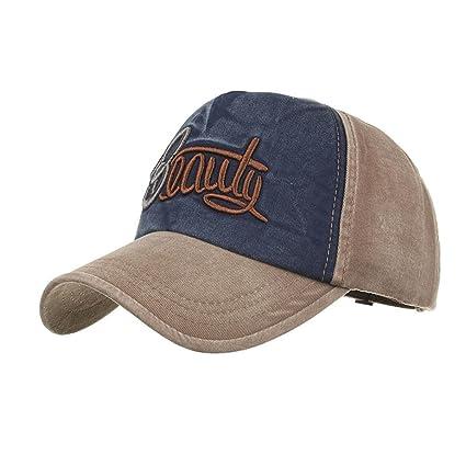 8dba34d58 Amazon.com: Baseball Cap, Women Men Embroidery Letters Denim ...