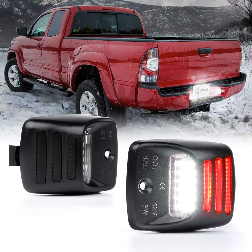 Tahoe Xprite White LED License Plate Light Assembly Replacement Tag Lamp for Chevrolet Silverado GMC Sierra 1500 2500 3500 HD Yukon Suburban Cadillac Escalade EXT
