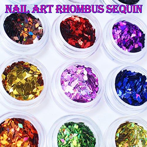 Gellen Decals Series 12pcs Nail art decals stickers 12 colors